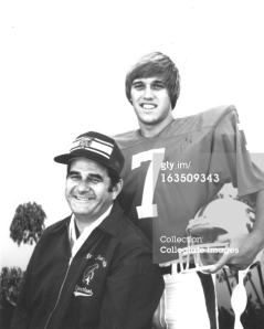 John Elway while at Stanford with his father Jack a former San Jose Spartan Head Coach