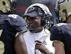 Darrell Hazell addressing his team during this past weekend loss verse Cincinnati