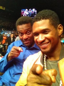 Coach Sumlin and Usher