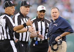 """Wait, you're going to call a penalty on us? I'm sorry, you know we're the Patriots, right?"""