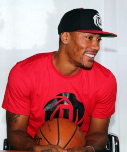 Derek Rose Visits Adidas Headquarters