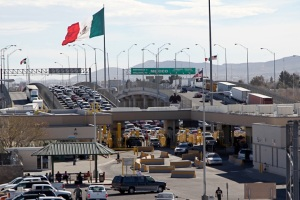 The Border of El Paso, Texas and Mexico